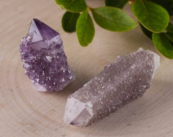 SPIRIT QUARTZ Crystals -5 Mini or 2 Small- Amethyst Quartz Crystal, Spirit Quartz Necklace, Spirit Quartz Cluster, Spirit Quartz Point E0005