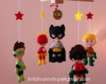 Super Heroes mobile, Super Heroine Mobile , Heroes Mobile BB, Robin,Batman, Flash, Green Lantern, Aquaman