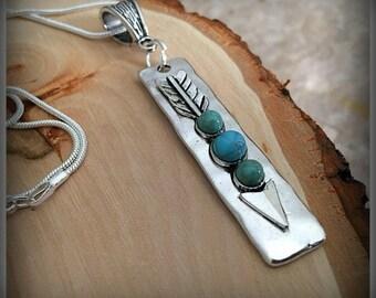 Arrow Pendant Charm Necklace, Arrow Jewelry, Arrow Necklace, Charm Necklace, Antique Silver Arrow