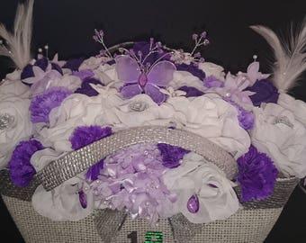 Handbag full of flowers