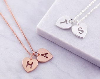 Initial Charm | Heart Necklace |  Letter Necklace | Rose Gold Initial | Personalized | Mom From Daughter | Friendship | Gold Initial
