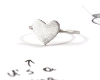 Heart ring, everyday ring, sterling silver, heart shaped, mini heart ring, minimalist ring, simple ring, small heart ring, tiny heart ring