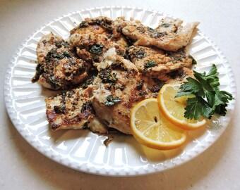 Lemon Herb Chicken Supreme downloadable PDF or JPEG Eating Cleaner recipe file