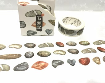 nature stone sea stone washi tape 8M raw stone pretty stone colorful stones masking tape stone theme rare stones decor sticker tape