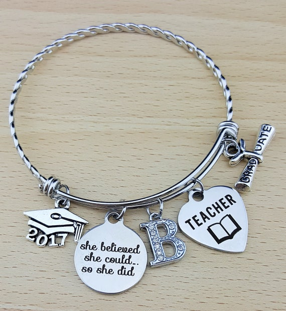 Teacher Gifts Teacher Graduation Gift College Graduation Gift for Her Graduation Gift for Daughter Senior 2017 Senior Gifts She Believed she
