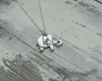 Origami Elephant Pendant Necklace by Wild Heart