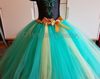 Anna princess inspired deluxe tutu dress