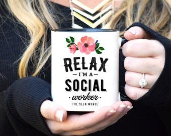 Social Worker Mug, Social Worker Gift, Coworker Gift, Coffee Mug, Social Work Gift, Social Work Mug, Funny Social Worker Gift