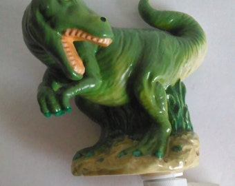 Ceramic T. Rex Dinosaur Nightlight