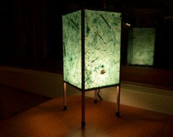 Paper Lamp, Table Lamp, Accent Lamp, Wedding Gift, Botanical Paper Lamp