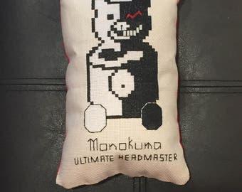 Monokuma Cross Stitch Pillow