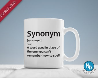 Synonym Definition, Wacky Definition Mug, MD112
