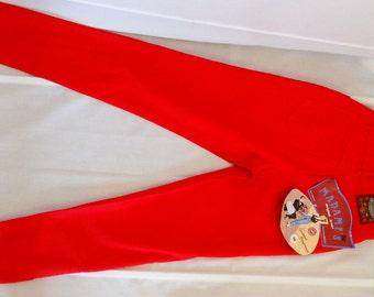 Womens Corduroy Pants Vintage Red Corduroy Trousers High Waist Pants vintage High Waisted Pants Women Vintage Pants Red 34-36 US 6-8 NWT