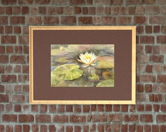 Waterlily. Painting. Watercolor Painting. Flower Painting. Original Painting. Watercolor by Alina Osipenko
