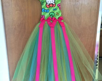 Free Shipping!  New, Handcrafted Hello Kitty TuTu Hair Bow Holder  (LAST ONE!!!)