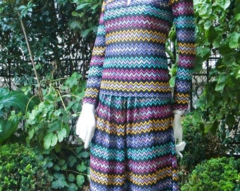 MISSONI 1970 Zig-zag Skirt and Top Set