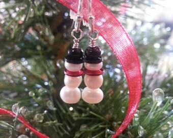 Sterling Silver Snowmen Earrings