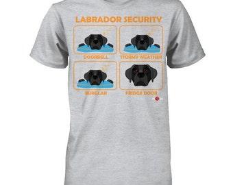 Funny Labrador Shirt | Labrador Security | Black Lab | | Funny Labrador Gift Idea