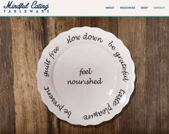 Mindful Eating Tableware dinner plate