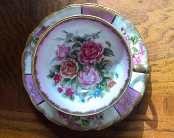 Pink Rose Tea Cup and Saucer Japan Royal Halsey, Tea Party, Thank You Gift, Bridal Party Gift