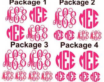 Monogram Decals Package - monogram set - decal set- monogram sheet - one color *FREE SHIPPING Black Friday Deal