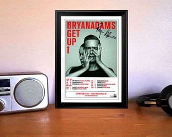 Bryan Adams Get Up Concert Tour Flyer 2016 Autographed Signed Photo Print