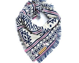 Personalized dog bandana, dog bandanas, dog bandana, boho dog bandana, dog scarf, puppy bandana, boho, scarf for dogs, dog, puppy: KLONDIKE