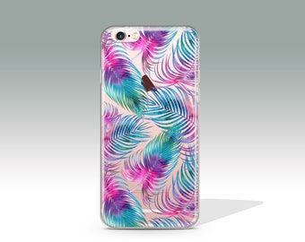 iPhone 7 Plus Case Tropical Case Clear iPhone 7 Case iPhone 7 Cover Summer iPhone 6 Case iPhone 6s Case iPhone Case Christmas Gift //356