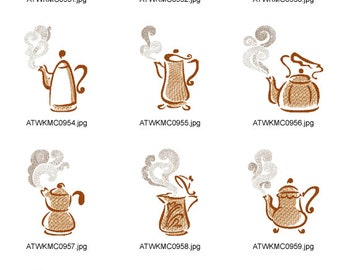 I-Love-Coffee ( 10 Machine Embroidery Designs from ATW )