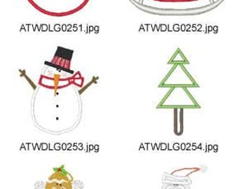 Holly-Days-Applique ( 10 Machine Embroidery Designs from ATW ) XYZ17E