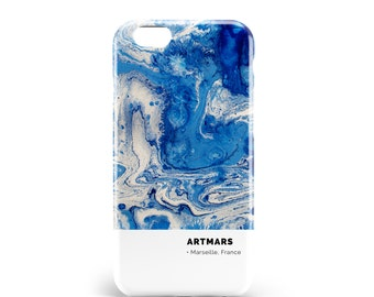 Hull blue abstract | PVC | iPhone 4, 4s, 5, 5S, SE, 5 c, 6, 6, 6 Plus, 6s, 7 and 7 more, illustration, design, art, paint, brush, artmars