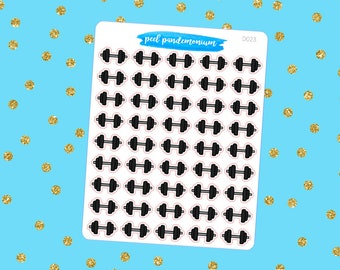 Dumbell Doodle Planner Stickers (D023)