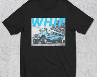 Mens WHIP Blue Bus T-Shirt - Graphic Tee - Streetwear - Tee - Men's - funny shirt - Gifts For Him - funny tshirts - Graphic Tshirts For Men