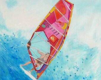 Windsurfing - scarf - silk square