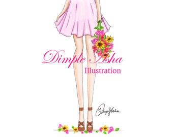Fashion Print, Fashion sketch,Fashion art,Fashion illustration,Chic wall art, Fashion illustration print, Fashion poster, Fashion Wall Art