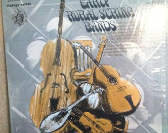 Early Rural String Bands Folk Field Recordings Vinyl Record Album