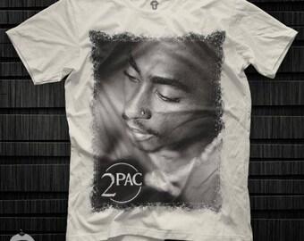 Tupac 2Pac Logo Unisex T Shirt Graphic Tee Tupac Shakur Men Shirt 2Pac Girl Shirt Size S M L XL 2XL