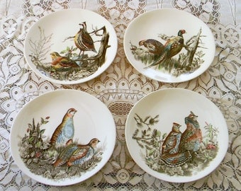 Set of Four Johnson Brothers Game Birds Dinner Plates