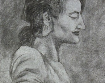 People Portraits / 1 Figure / Charcoal / **Lowest Price - 50% Down Deposit**