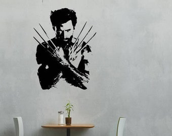 Wolverine silhouette from X-Men wall vinyl or sticker