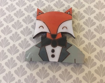 Dapper Little Fox Brooch