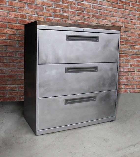 Refinished 3 Drawer Metal Filing Cabinet 30 36