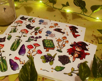 Cute witch craft vinyl stickers #18