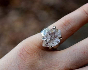 Herkimer diamond ring (size 6)