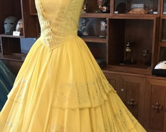 Belle dress Belle costume 2017 new beauty and beast movie dress costume adult and girl