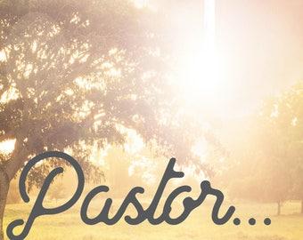 Pastor's Appreciation Card