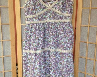 Free People floral vintage cotton sun dress