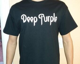 DEEP PURPLE  T-shirt 100 % Cotton and 1 stisker Free