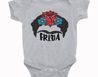 Frida Infant Onesie, Frida Infant Bodysuit, Frida Baby, Kahlo Oneise