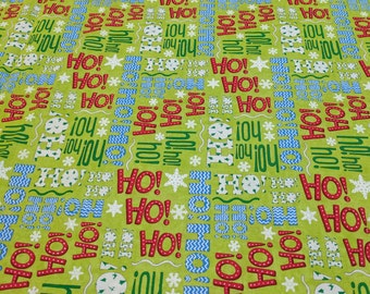 Ho Ho Ho Green Cotton Fabric by Deb Strain from Moda Fabrics